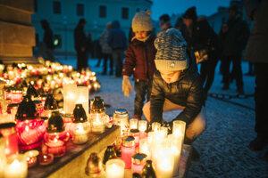 Spomienka na Trojičnom námestí v Trnave.