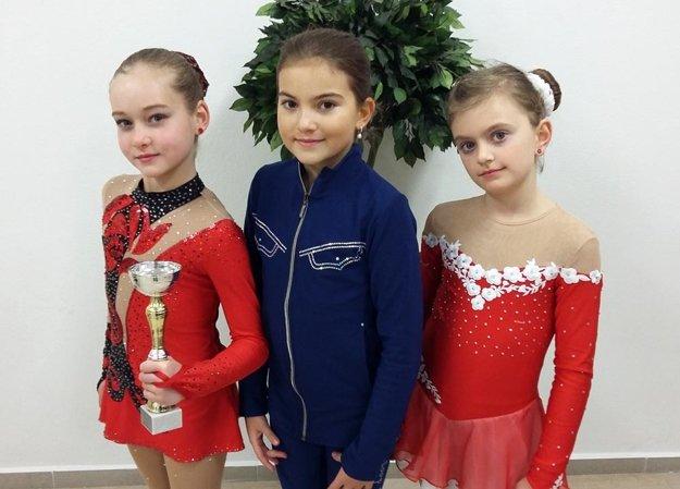 Nádeje do 9 rokov: zľava Patrícia E. Černíková, Paulína Bieliková a Natália Šupková.