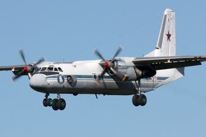 Ruské lietadlo typu An-26.