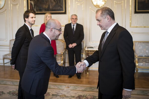Predseda Islamskej nadácie na Slovensku Mohamad S. Hasna s Andrejom Kiskom.