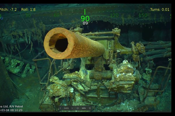 Vrak lode USS Lexington.