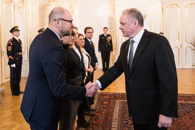 Prezident Andrej Kiska a líder SaS Richard Sulík.