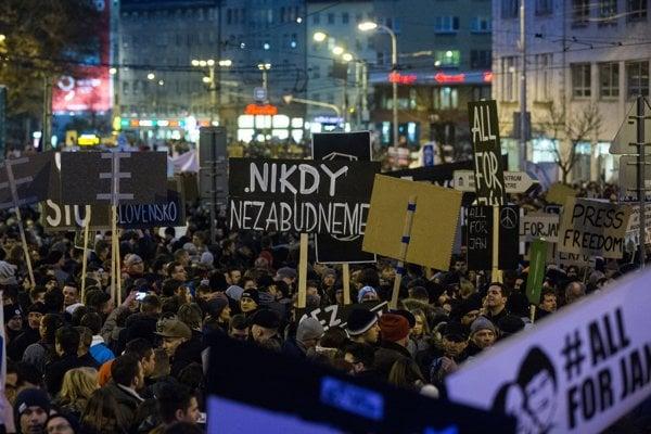 Protesty v Bratislave.
