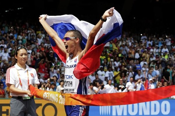 Nitran Matej Tóth získal zlato na MS v Pekingu v chôdzi na 50 km.