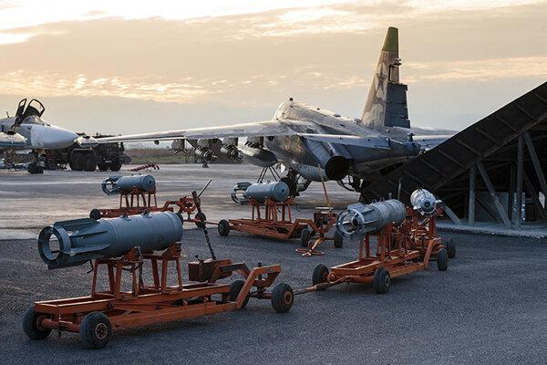 Ruské lietadlo na základni Humajmím.