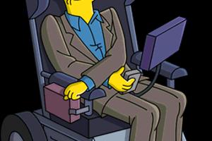 Podobizeň Stephena Hawkinga v animovanom seriáli Simpsonovci. V populárnom seriáli sa objavil niekoľkokrát.