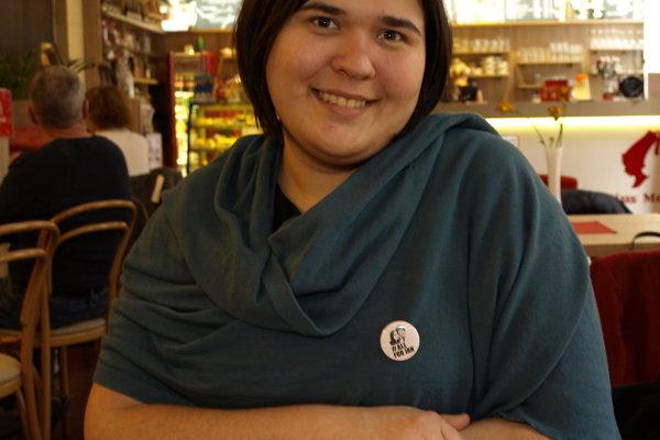 Organizátorka novozámockého zhromaždenia Katarína Hozlárová.
