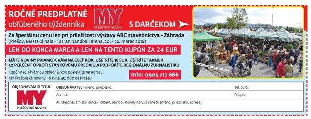 Predplaťte si týždenníky MY Prešovské noviny.