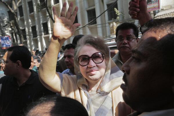 Bangladéšska expremiérka Begum Chálida Zijáová.