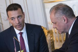 Tomáš Drucker a prezident Andrej Kiska.
