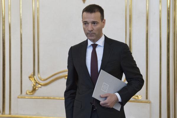 Novovymenovaný minister vnútra SR Tomáš Drucker.