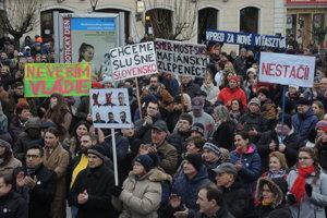 Protest v Trenčíne 23.3.2018