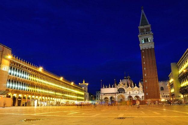 Námestie sv. Marka v Benátkach.