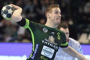 Jakub Hrstka. VPohári EHF je zatiaľ najlepším strelcom Prešova.