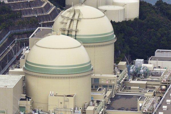 Jadrová elektráreň v meste Takahama v prefektúre Fukui, Japonsko.