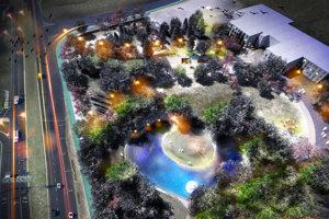 Budúca podoba parku na ružinovských Ostredkoch oproti Domu kultúry.