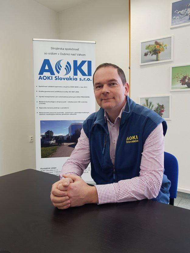 Riaditeľ spoločnosti AOKI Andrej Kulina.