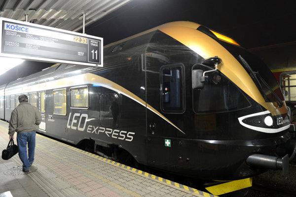 Vlak českého dopravcu Leo Express.