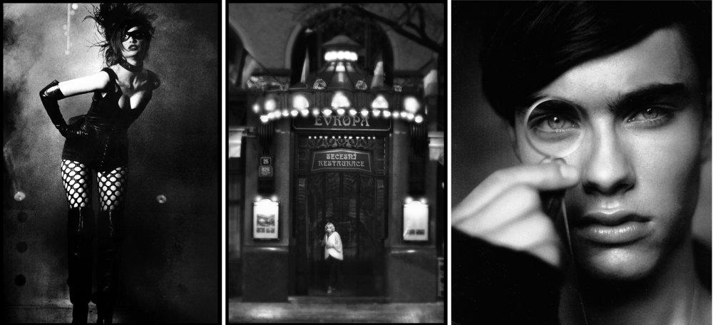 Niekoľko fotografií Roberta Vana. Zľava: Kabaret Praha, 1992, Marta pre Grandhotel Evropa, 2010, Rory pre DolceVita, 2009.