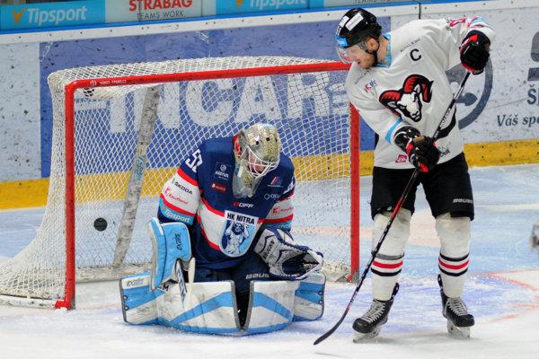 Kapitán Banskej Bystrice Marek Bartánus dal prvý gól svojho tímu v zápase.