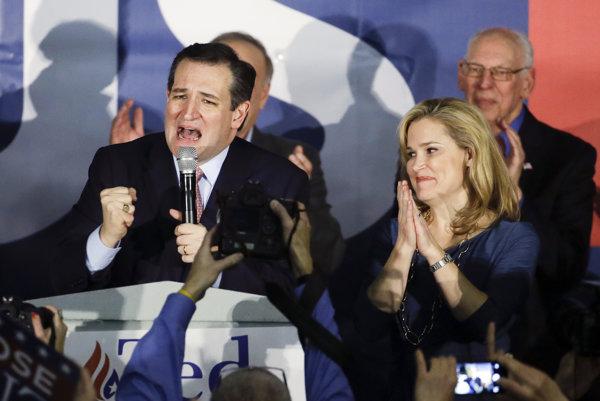 Republikánsky kandidát Ted Cruz.
