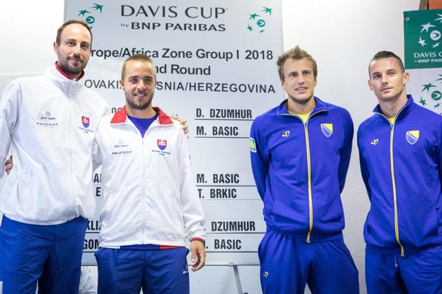 Zľava Igor Zelenay, Andrej Martin, Mirza Bašič, Tomislav Brkič.