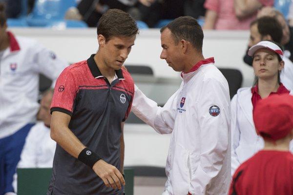 Martin Kližan (vľavo) a Dominik Hrbatý.