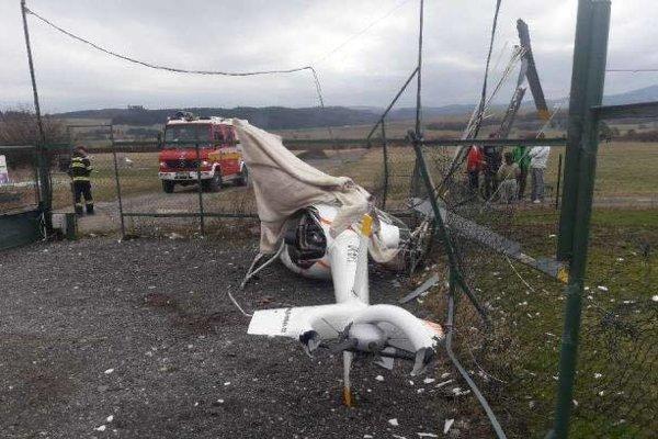 Po havárii vrtuľníka.