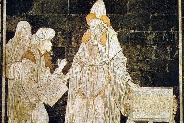 Hermes Trismegistos, katedrála v Siene, Taliansko.