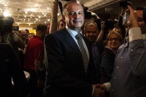 Andrej Kiska po volebnom víťazstve.