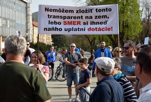 Protesty v Humennom.