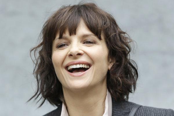 Juliette Binoche, francúzska herečka, držiteľka Oscara za film Anglický pacient.