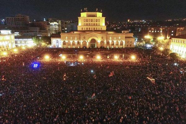 Protesty v Arménsku.