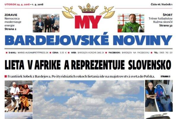 MY Bardejovské noviny (Zdroj: redakcia)