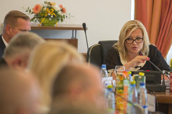 Predsedníčka Súdnej rady Lenka Praženková.