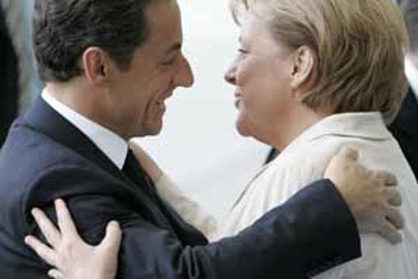 Nicolas Sarkozy a Angela Merkelová.