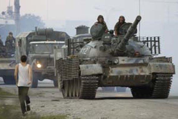 Ruské tanky v Gruzínsku.