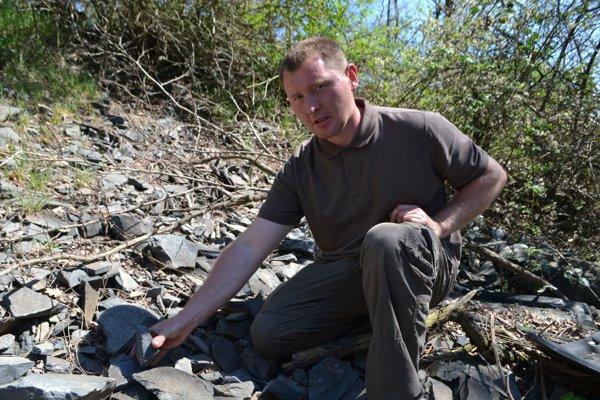 Ladislav Oravec, amatérsky mineralóg zo Šuríc.