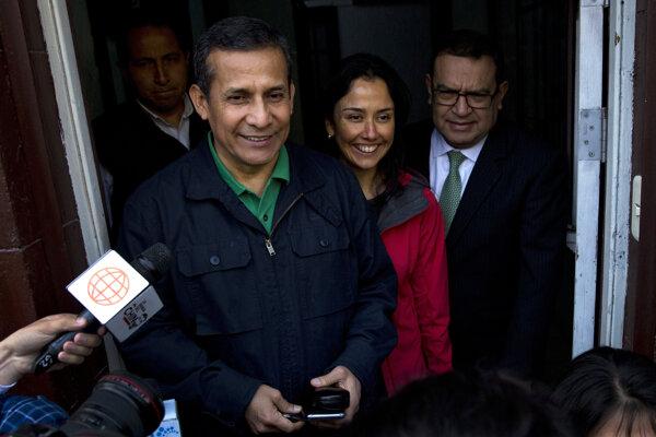 Ollanta Humala a jeho manželka Nadine Herediová.