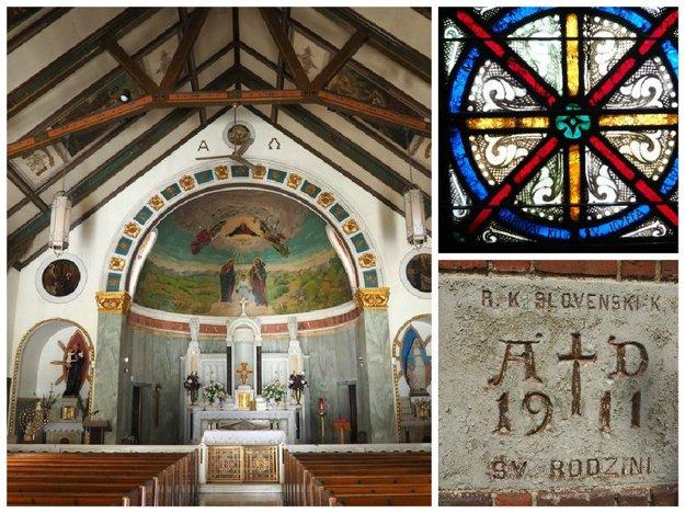 Slovenské slová ako cesta a život pripomínajú návštevníkom, kto dal postaviť kostol v Greenpointe. FOTO – MIRIAM MOLNÁR