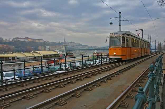 Električka v Budapešti.
