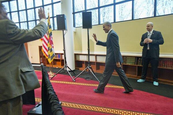 Barack Obama na návšteve mešity v Baltimore.