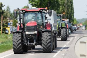 Protest farmárov v Nitre.