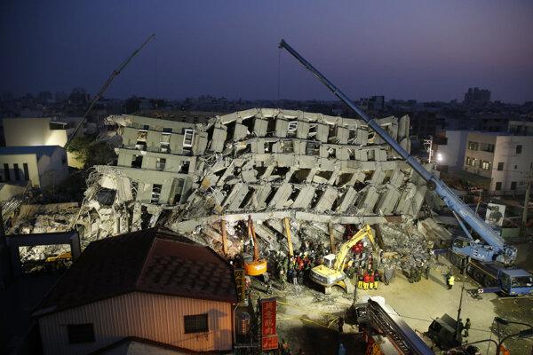 Zemetrasenie na Taiwane.
