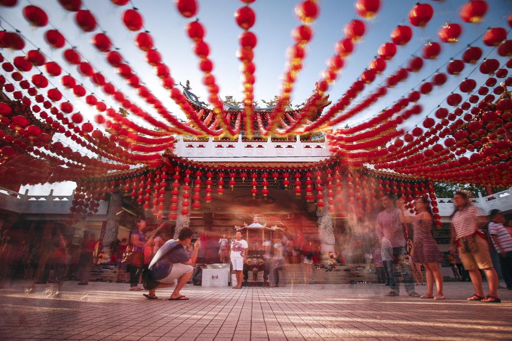 Oslavy nového roka nevynechalo ani čínske etnikum v Kuala Lumpur. SITA/AP