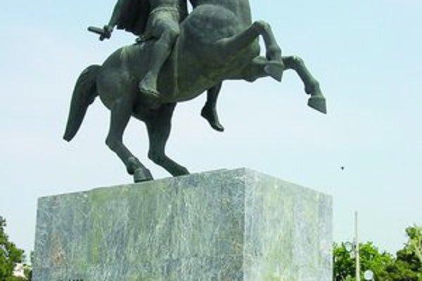 Socha Alexandra Veľkého v Thessalonikách.