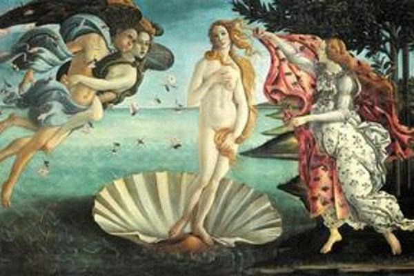 Slávne Zrodenie Venuše od Sandra Botticelliho je vo florentskej galérii Uffizi.