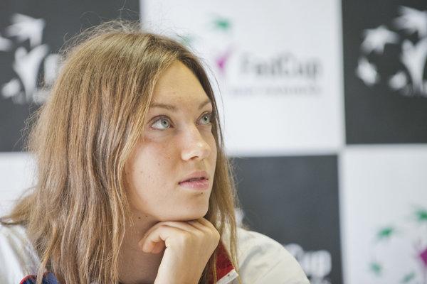 Slovenská tenistka Tereza Mihalíková.