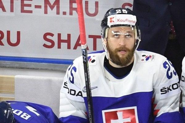 Marek Hovorka v drese slovenskej reprezentácie.