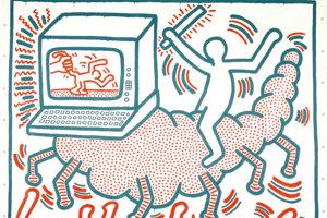 Keith Haring Untitled, 1983 Vinyl paint on vinyl tarp